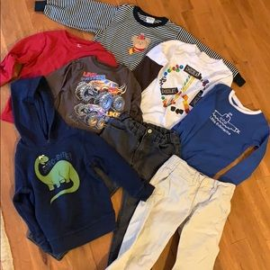 Bundle boy cloths, long sleeve and jean for winter